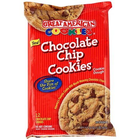 Great American Cookies Chocolate Chip Cookie Dough, 16 oz ...