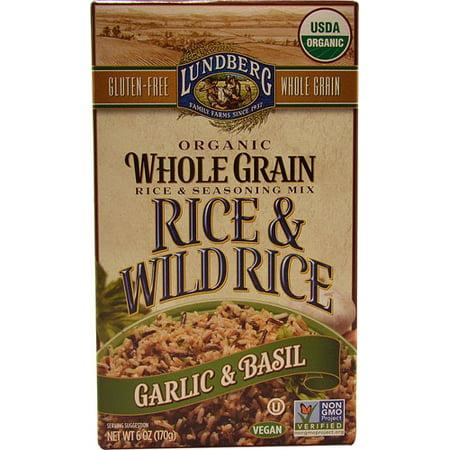 Lundberg Organic Whole Grain Rice   Wild Rice Garlic   Basil  6 0 Oz
