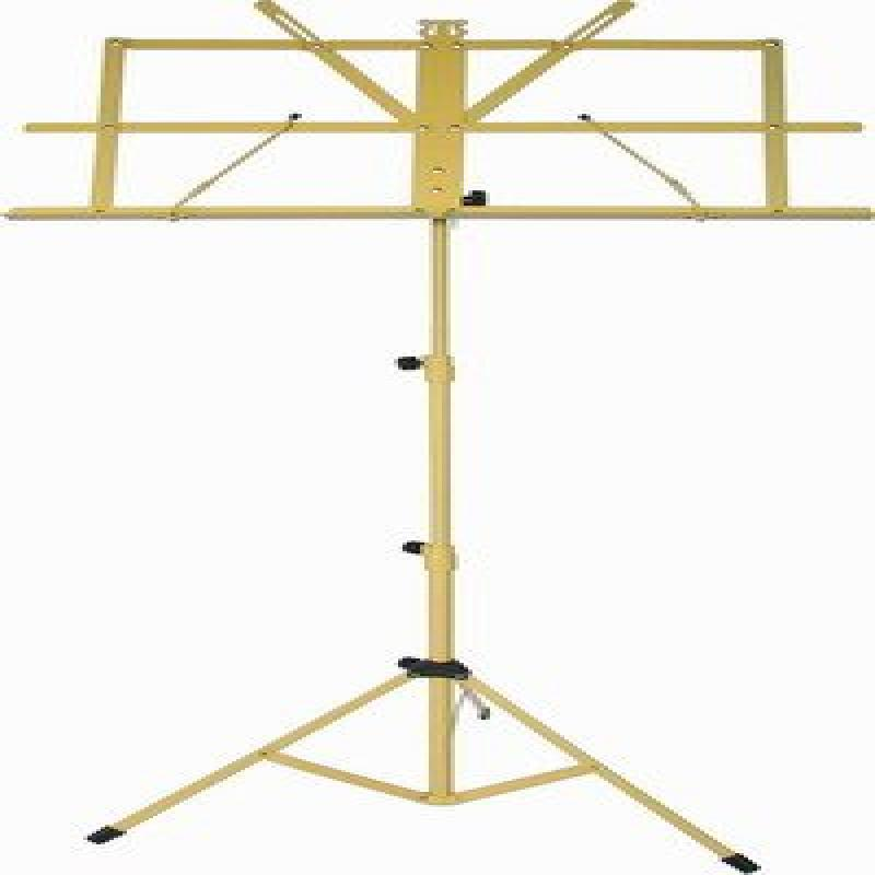 AUDIO2000'S AST4442YL YELLOW-PORTABLE SHeet MUSIC STAND WITH A HEAVY-DUTY CARRYING POUCH by Audio2000S