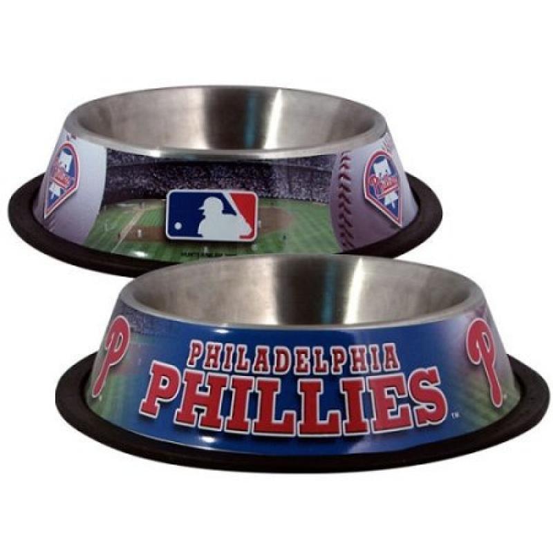 Philadelphia Phillies Stainless Dog Bowl