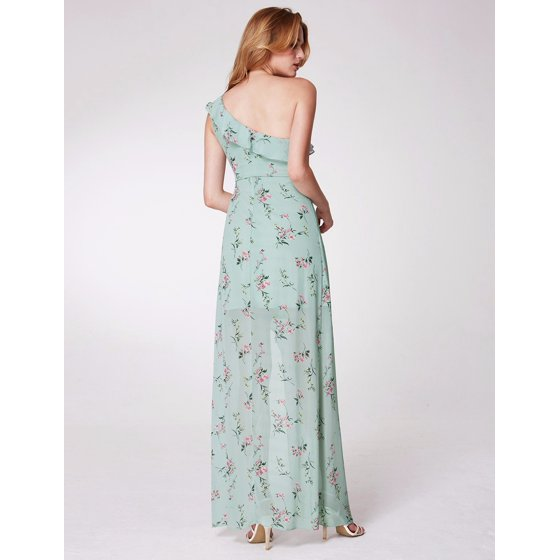 bd79f94e691 Ever-pretty - Ever-Pretty Womens Sexy Full Length Empire Waist One Shoulder  Hi-Lo Holiday Vacation Beach Summer Cocktail Party Dresses for Women 07240  Green ...