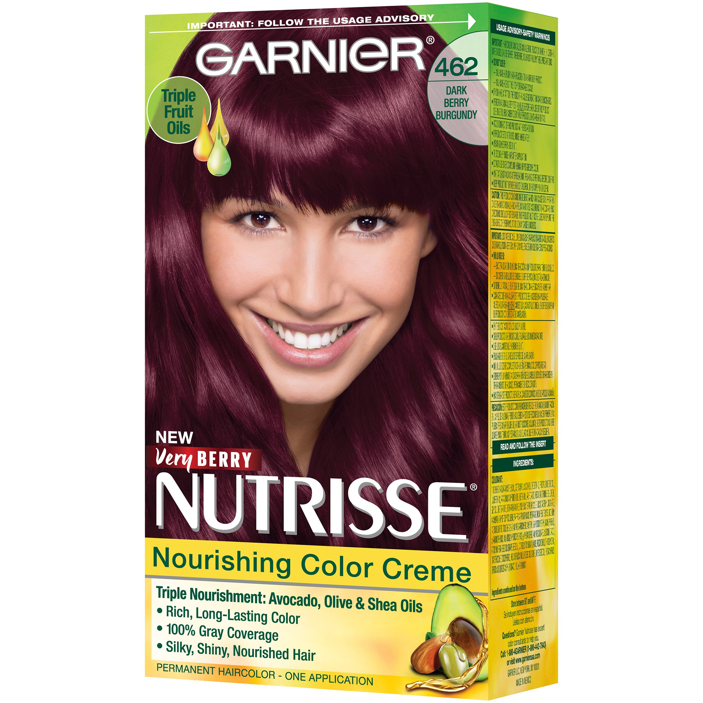 Garnier Nutrisse Nourishing Hair Color Creme Reds 42 Deep