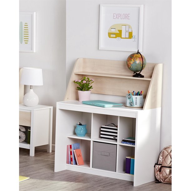Novogratz Addison Kids Desk with Hutch, Natural