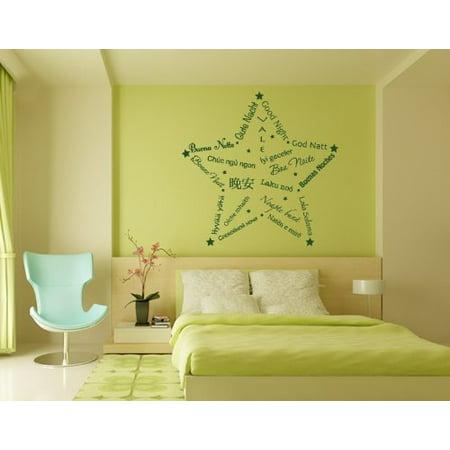 Good Night Star Wall Decal - wall decal, sticker, mural vinyl art ...