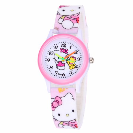 Chicago Bears Ladies Watch (Kitty Watch with Teddy Bear Cool Design Hello Kitty Style Girls Watch, HKW:45)