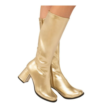 Adult GoGo Boot Gold Halloween Costume Accessory - Costume Boot