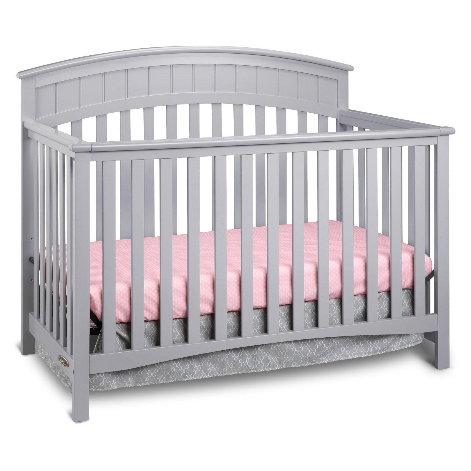 Graco Charleston 4 in 1 Convertible Baby Crib, Pebble Gray ...