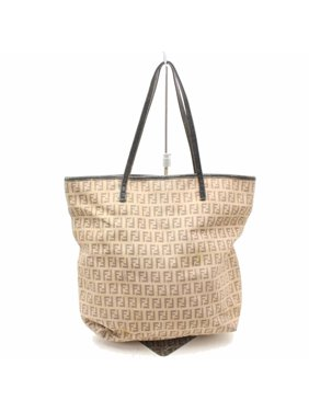 d8d72b0b285d Product Image Light Monogram Ff Shopper 869161 Brown Canvas Tote. Fendi