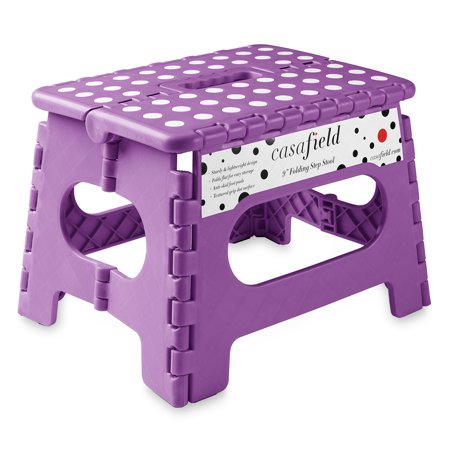 Wondrous Casafield 9 Folding Step Stool With Handle Portable Collapsible Small Plastic Foot Stool For Kids And Adults Use In The Kitchen Bathroom And Alphanode Cool Chair Designs And Ideas Alphanodeonline