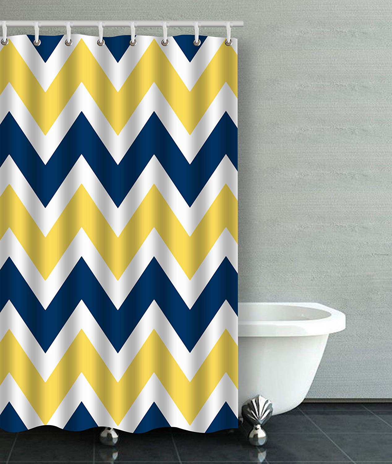 Yellow Chevron Zigzag Pattern