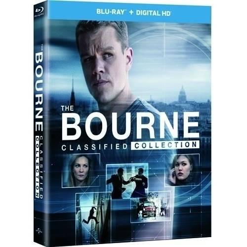 The Bourne Classified Collection: Bourne Identity / Bourne Supremacy / Bourne Ultimatum / Bourne Legacy (Blu-ray + Digital HD + Movie Money) (Walmart Exclusive) (DVD)