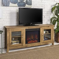 Traditional Wood Fireplace TV Stand for TVs up to 60