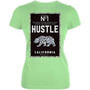 Diamond Bear Hustle California Juniors Soft T Shirt Mint SM