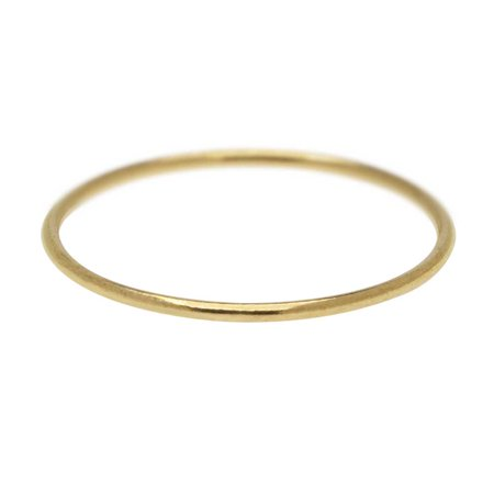 Stacking Ring, 1mm Round Wire / US Size 8, 1 Piece, 14K Gold Filled Gold Filled Wire Ring