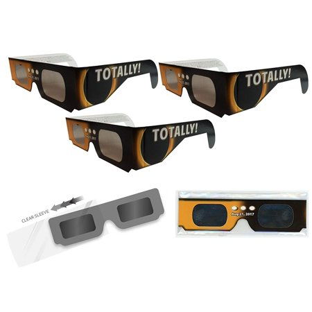 Solar Eclipse Glasses - 3 ISO Certified, CE Approved - Sleeved - Solar Shades, The safe and enjoyable way to view the August 21, 2017 Solar Eclipse. By Get (Can You Wear Sunglasses For Solar Eclipse)