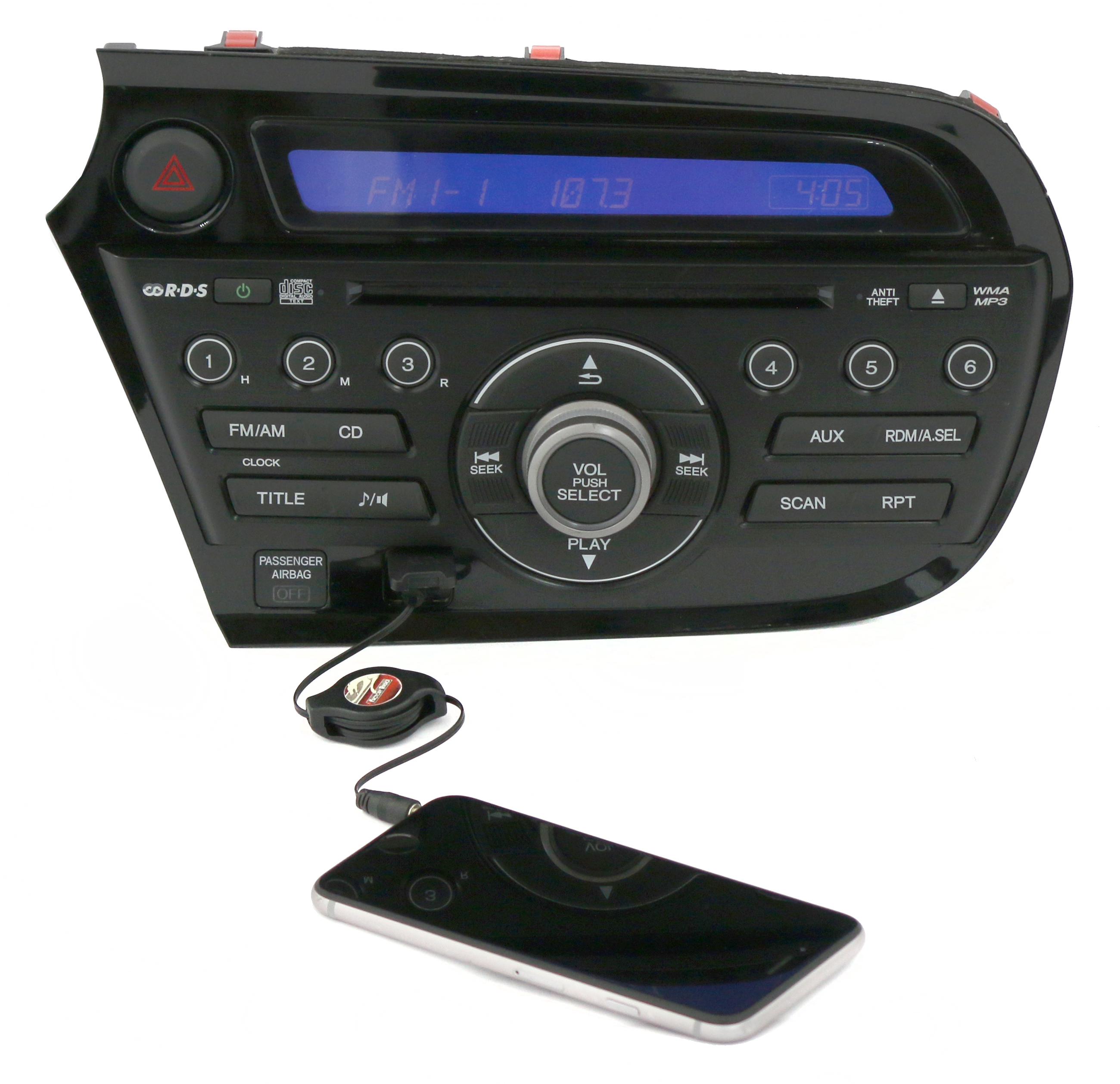 2010-14 Honda Insight AM FM Radio CD Player Aux Input Part Number 39100-TM8-A01 - Refurbished