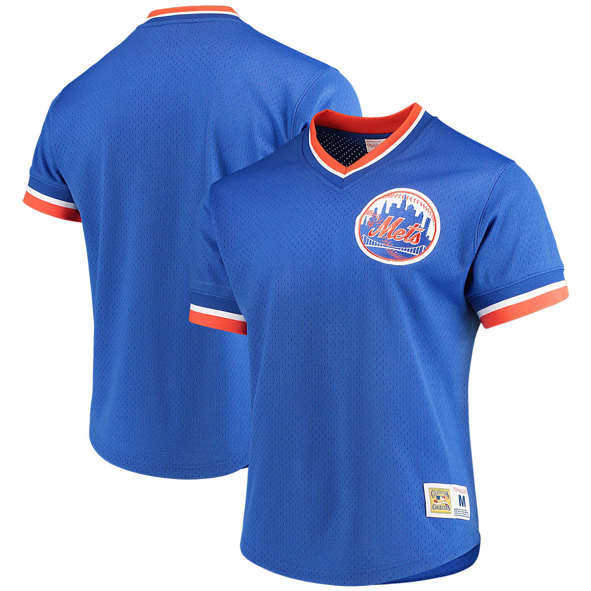 New York Mets Mitchell & Ness Mesh V-Neck Jersey - Royal
