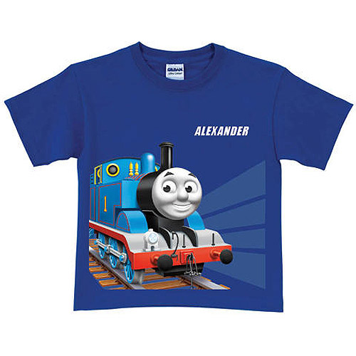 Personalized Thomas & Friends Tracks Boys' Blue T-Shirt