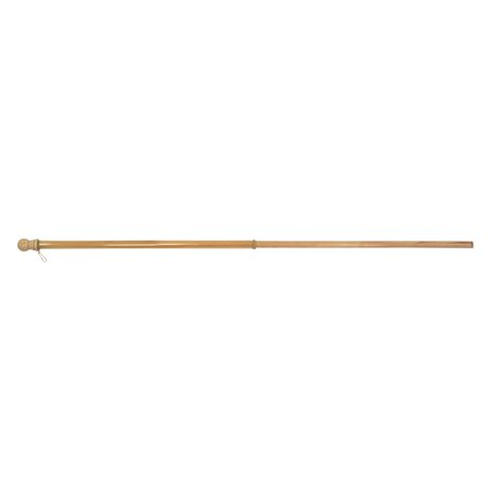Flagtrends 60 x 1 in. Wood Pole With Anti-Wrap Sleeve - Brown