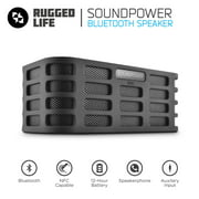 Ematic RuggedLife Bluetooth Wireless Speaker and Speakerphone for Smartphone, Laptop, and More