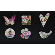 Cypress Home Spring Inspirations Magnet 12 Piece Set with Metal Bucket