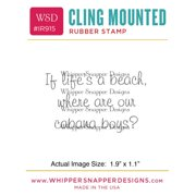"Whipper Snapper Cling Stamp 2.5""X3.5""-Cabana Boys"