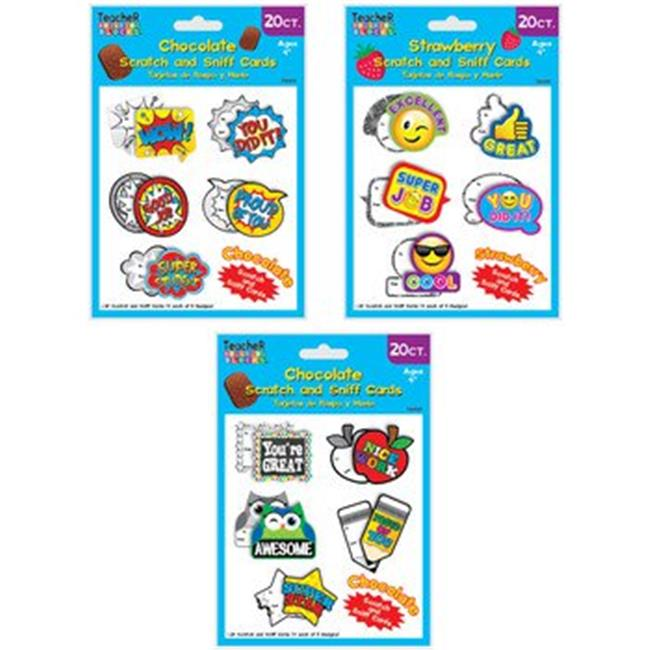 DDI 2269882 20 Count Scratch N Sniff Award Cards, Case of 48