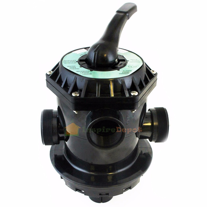 "XtremepowerUS 6-Way Sand Filter Valve 1.5"" Multiport Replacement, Top Mount"