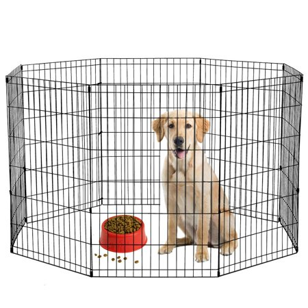 BestPet 30-Inch Tall Dog Playpen 8 Panel Crate Fence - (Outdoor Dog Pen)