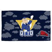 Airplane Otto Bath Towel White 27X52