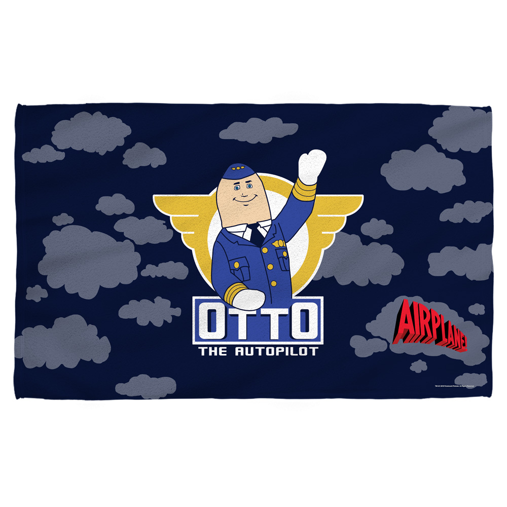 Airplane Otto Bath Towel White 27X52