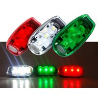Clip On LED Red Green White Safety Warning Strobe Light Bicycle Marine Boat Navigation Sail Zodiac JS Spare Kayak Yacht Zodiak