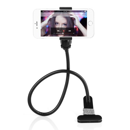 Universal 360 Degree Gooseneck Cell Phone Holder Bed Desktop Car Lazy Bracket Phone Stand Holder with A Long Arm,A Adjustable Clamp (Cell Phone Bracket)