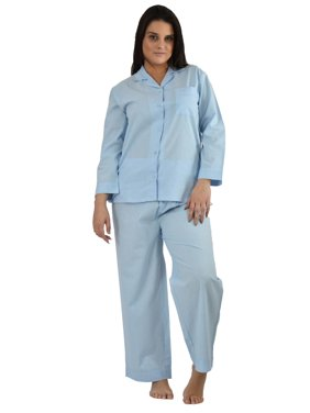 Up2date Fashion's Women's 100% Cotton Pajamas in Solid Colors
