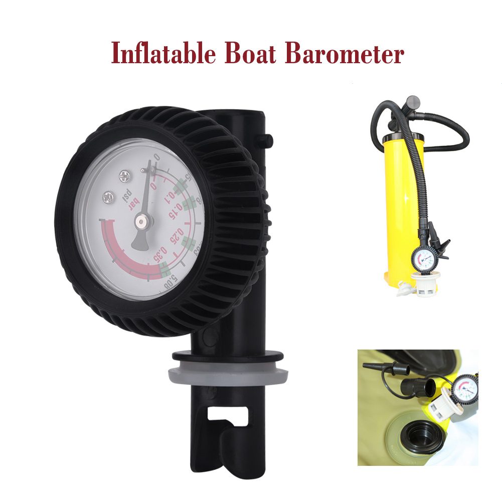 Inflatable boat air pressure gauge air connector For kayak Raft sup board U0W1