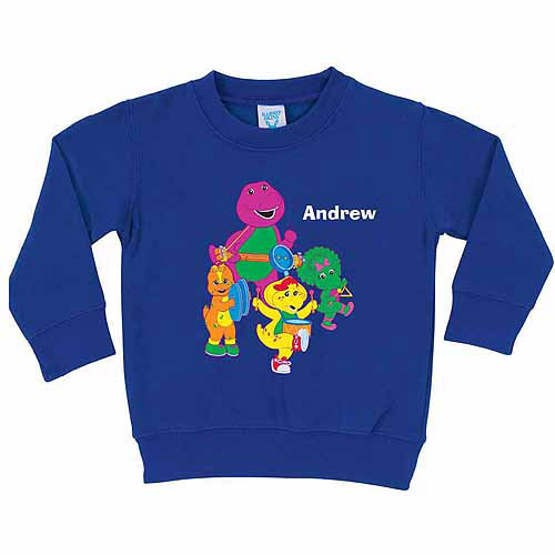 Personalized Barney and Friends Band Toddler Boy Royal Blue Pullover Sweatshirt
