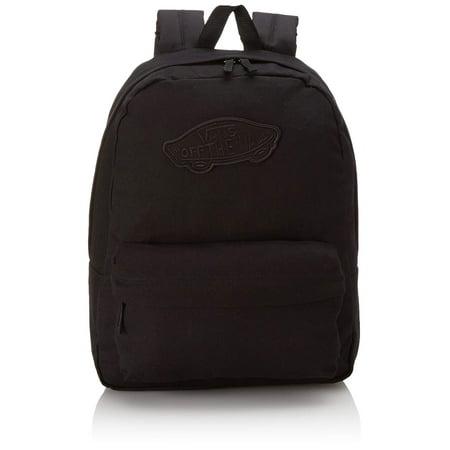Vans Realm Plain Black School Bag Backpack