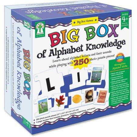 Carson-Dellosa, CDP840015, Big Box of Alphabet Knowledge Board Game, 1 Each, Multicolor Carson Dellosa Addition Bingo