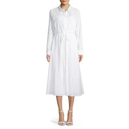 Long-Sleeve Shirt Dress -