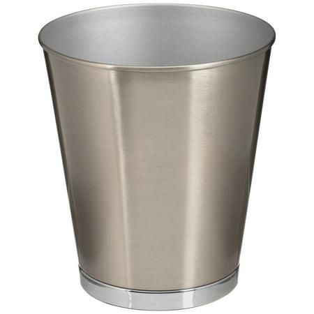 Better Homes & Gardens Two-Tone Silver Metal Bathroom Trash Can