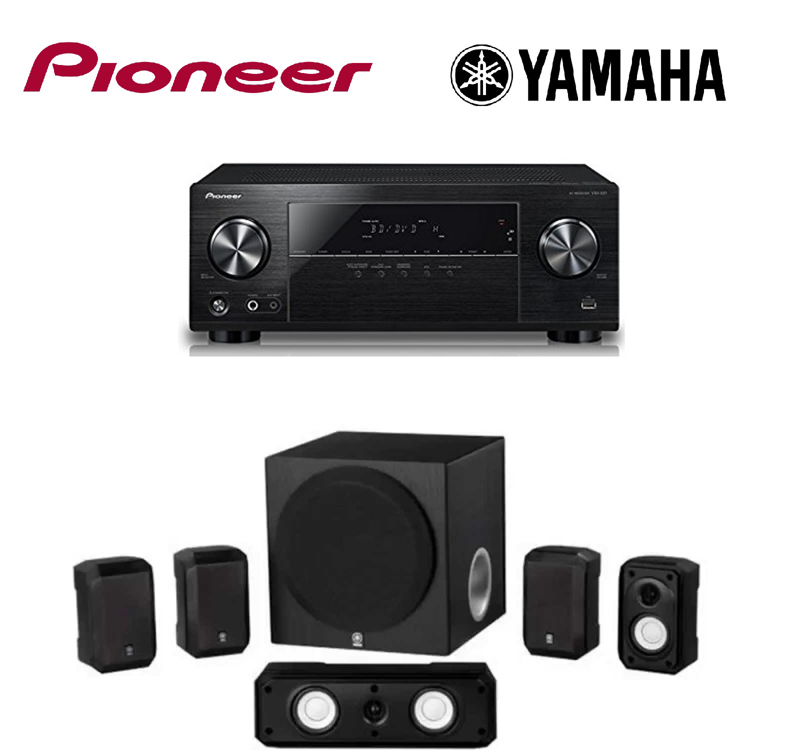 Pioneer VSX-531 5.1 Channel Network AV Receiver Audio & V...