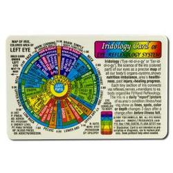 Inner Light Resources - Orginal Wallet Cards, Iridology Card Rainbow Coding, 1 ea