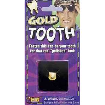 Gold Tooth Cap Carded Halloween Costume Accessory - Golden Halloween