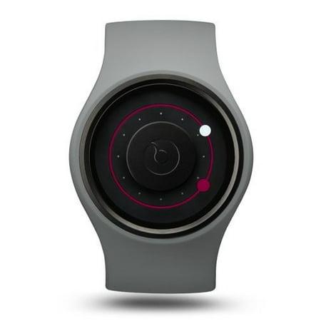 Unisex Orbit Plastic Watch - Gray Rubber Strap - Black Dial - (Unisex Rubber Strap)