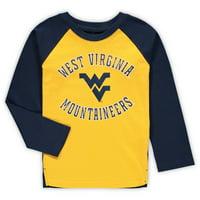 West Virginia Mountaineers Preschool Air Raid Raglan Long Sleeve T-Shirt - Gold