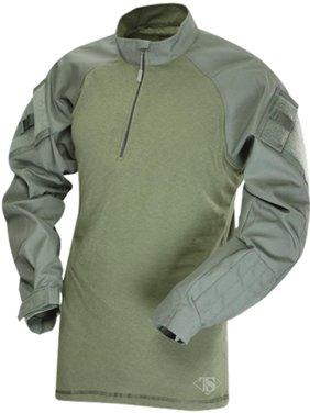 TruSpec - TRU Long Sleeve 1/4 Zip Combat Shirt Small Olive Drab