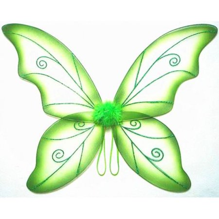 Green Adult Fantasy Butterfly Fairy Wings Tinkerbell Womens Costume Accessory](Peacock Fairy Wings)