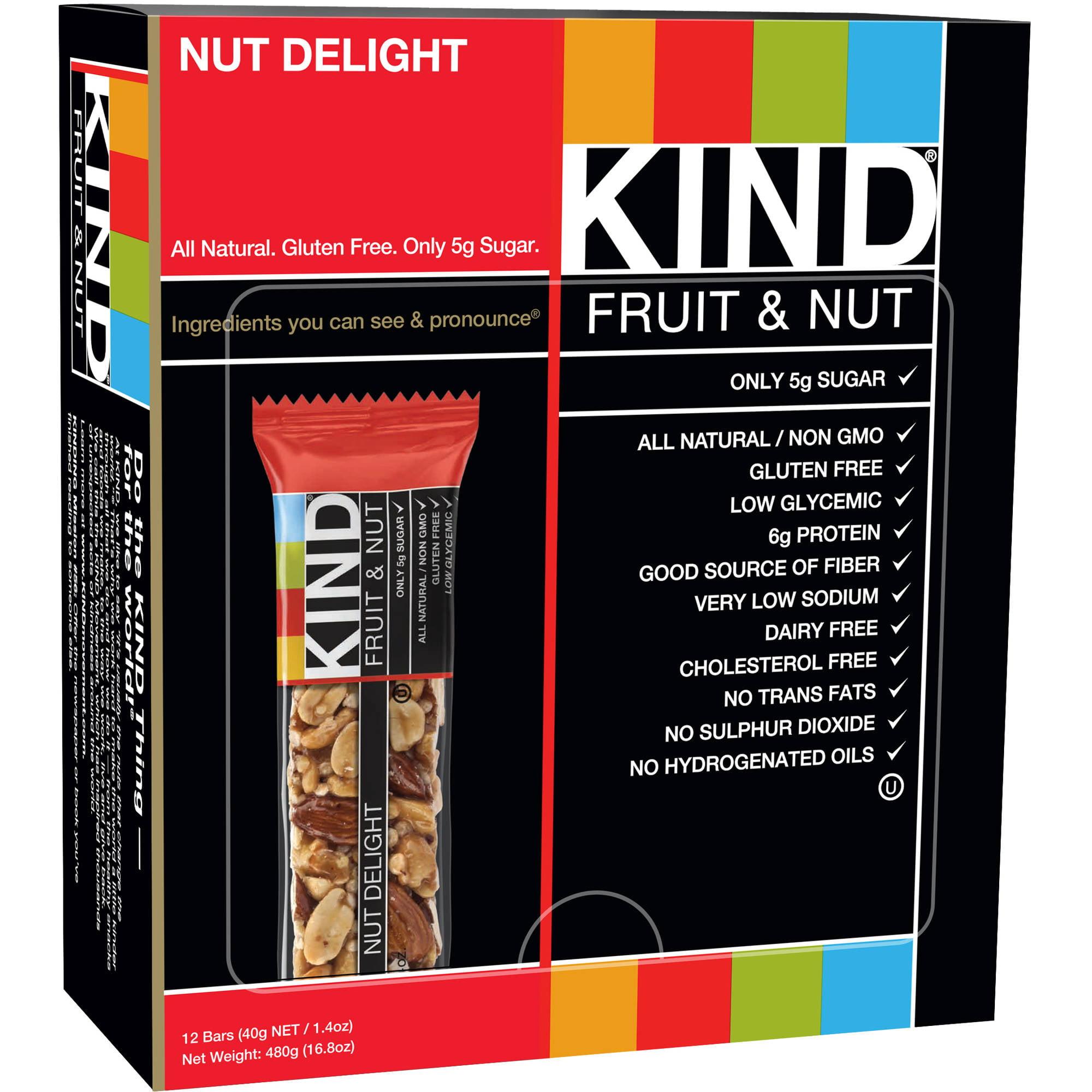 KIND Fruit & Nut Bars, Nut Delight, 1.4 oz, 12 Count