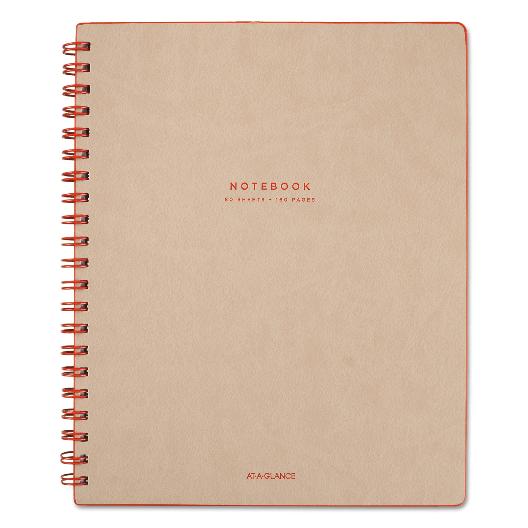 AT-A-GLANCE Collection Twinwire Notebook, Legal, 11 x 8 3/4, Tan/Red, 80 Sheets