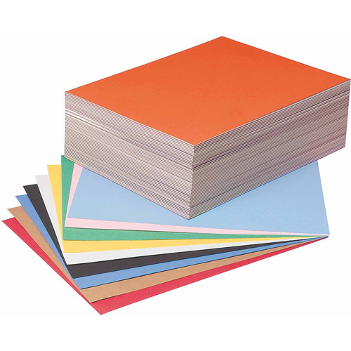"Tru-Ray Sulphite Construction Paper, 9"" x 12"",  10-Color, Pack of 500"